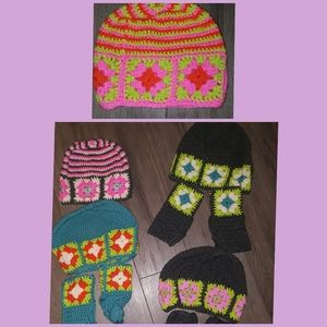5 NEW Hats+3 gloves hand warmers mittens all NEW